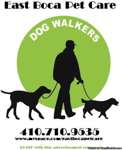 Dog Walking Service in East Boca Raton ,FL - Price: 15