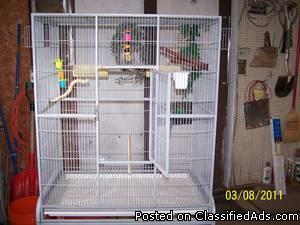 wanted flight cage on stand - Price: $50.00