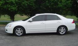 07 Honda accord ex for sale-whites-$4450.The car is in good condition and has never involved in any kind of accident.So you can get back to me with your number and email address for more information and pictures