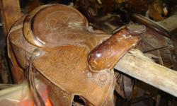 """Used Pleasure saddle. 15"""" Seat. MANY others available. Call .. Riverside Boot & Saddle 742 W HWY 39 Blackfoot, ID 83221"""