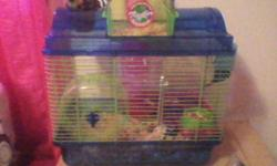 I have 2 very healthy hampsters needing a good home and lots of attention.We just got a cat and they dont get along to good.We just recently bought a new 2 story cage for them and all excessories included.Would make a great gift for the holidays.