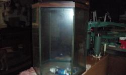 35 Gal octogon fish tank with hood and light only. Call Dave or Jean @ 724-745-3099 or e-mail retired347@yahoo.com