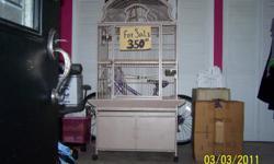3x3x5' high w/2 door storage under cage color is off white