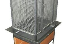 Beautiful like new bird cage with storage shelf on bottom. Excellent condition.