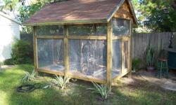 I WILL BUILT YOUR BIRD CAGE FOR ANY SIZE BIRD FOR SMALL AND LARGE BIRDS CALL ME FOR A FREE ESTIMATE --