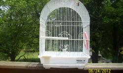 I have several nice bird cages these are just a few I have here right now. Call -- Cages for parakeets, canaries and cockatiels --