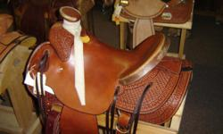 """Brand New Billy Cook Cliff Wade 15 1/2"""" Saddle. $1499. We have dozens of new & used saddles in stock all the time, including a good representation of Billy Cook saddles. Trades Welcome! Call us today @ .. OR stop in & see us @ 742 W HWY 39"""