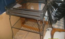 Good Condition, for a Medium bird Spacing to wide for small birds Please call evenings if interested have to put together so easy to fit in a car etc. Picture is bottom of cage has shelf and has a perch on top