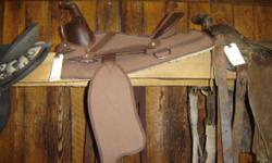 We've got 2 used Lightweight Cordura Saddles in stock. One is $199 and the other is $150. Great for Someone with lifting restricions. Great Christmas present for your loved one & their horse. :) Trades welcome, Dozens of used & new saddles in stock.