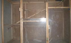 WOOD FLIGHT CAGE 41 inches tall 56 inches wide 23 inches deep
