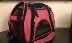 This bag is in perfect condition! It has removable and washable fleece bedding. Only used once with bunny for a 15 minute car ride . Selling because I need a bigger bag because I now have two rabbits. If interested call Tiffany at --. (Original price of