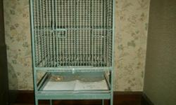 Cal Cage 4' x 2' x 2' cage has a play pen on the top, and castors for easy moving. Perfect size for an Amazon or African Grey parrot.