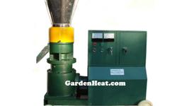 Electric Wood Pellet Mill / without motor - Make wood pellets - This is the WD225 electric wood pellet mill without motor from GardenHeat.com Just add your own 10HP motor or we can add motor for you. This is a great machine for a wood shop or home. It has
