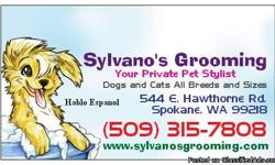 Sylvano's Grooming offers a multitude of services for a variety of pets (Dogs and Cats). Choose the schedule and services you want, and we'll do the rest. No tranquilizers, just TLC! We treat each and every pet as if it were our own!!! We provide