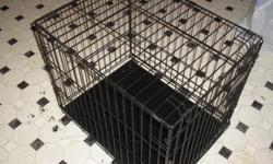 I have a black Petmate dog wire crate for sale. I used it only about 2 months, my puppy grew faster than i thought she would. I had to get a bigger crate for her now. The crate i want to sell is in great shape, no rust (used indoor only) or broken parts.