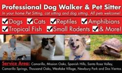 DogzGoneWalk'N is a professional Pet sitting and dog walking company serving Camarillo and Santa Rosa and The Conejo Valley. We are insured, bonded, pet first aid and CPR certified and licensed in Camarillo and the Thousand Oaks area. We have been