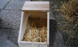 Rabbit Nesting boxes, $10.  I can make any size that is requested. Those pictures are for a medium rabbit including California's and/or New Zealands. I can make several or just one. I normally always have a few on stock. I listed this for my father