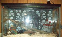 4FT. Snake, large tank, and contents, light, heat rock, and heat lamp. Must sell!!!!!!!!