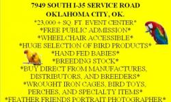 The OKC Tropical Bird & Supply Mart, Saturday, December 8, 2012. The Birdmart location 7949 South I-35 Service Road, Oklahoma City, OK at The Animal Resource Center 9am-5pm FREE PUBLIC ADMISSION Huge selection of socialized hand fed parrots for sale: