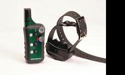 1/2 mile range; 10 momentary, 10 continuous; waterproof collar/receiver & transmitter; buzz option; expandable (up to 3 dogs) Rugged, reliable, and simple to use. 20 total levels of stimulation (10 momentary & 10 continuous) adjustable from the