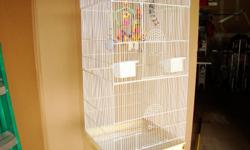 """1. 18""""W X 18""""D X 36""""H. Ideal for larger birds. Love bird size up to Larger Parrots. 2. 14W X 18D X 22H. Ideal for small to Medium sized birds. Will sell separately."""