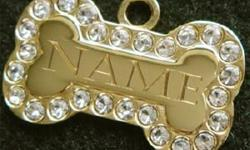 Click here to view our complete line ofdog and cat tags. 10% of our profits go to Pet Rescue Shelters, we engrave for free and ship the next day.