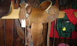 "15 1/2"" Ranch Saddle $900. Trades considered. MANY other used saddles available. Great deals on Cactus ropes, trailers & western wear too. Riverside Boot & Saddle 742 W HWY 39 Blackfoot, ID 83221"